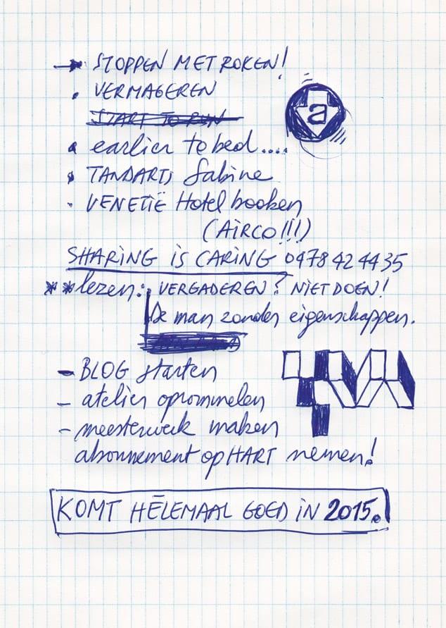 Academie Temse nieuwjaarskaart 2014-2015