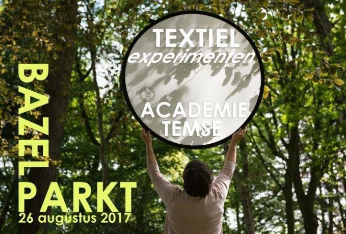 Flyer Bazel Parkt 2017 Textiel atelier academie Temse